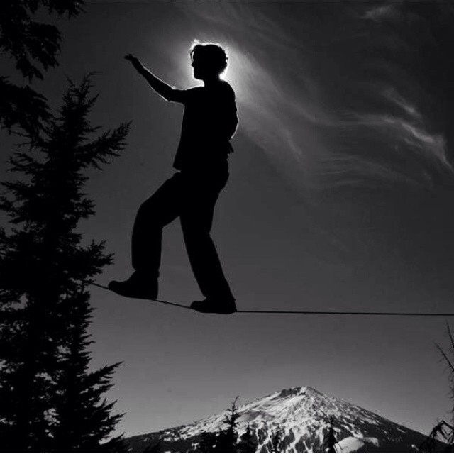 #Moon -Lit Silhouette of @ariintheair over @mtbachelor .