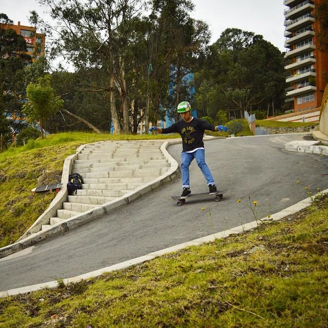 "Colombian rider Alejandro ""Nano Velazquez on the #Overland with @orangatangwheels #Kegel"