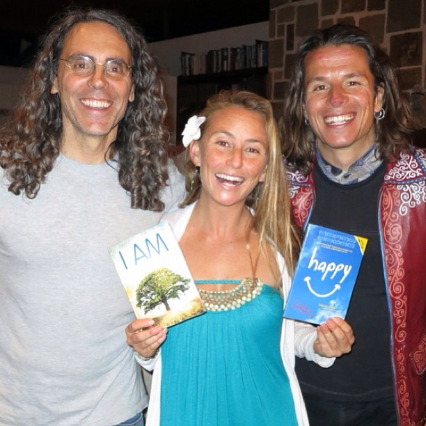 "Feeling so blessed to reunion with two old friends Tom Shadyac and Roko Belic - brilliant filmmakers who are doing more then their part to change the world...Check out their films ""HAPPY"" and ""I AM!"" I love that Tom took his humor and power from all..."