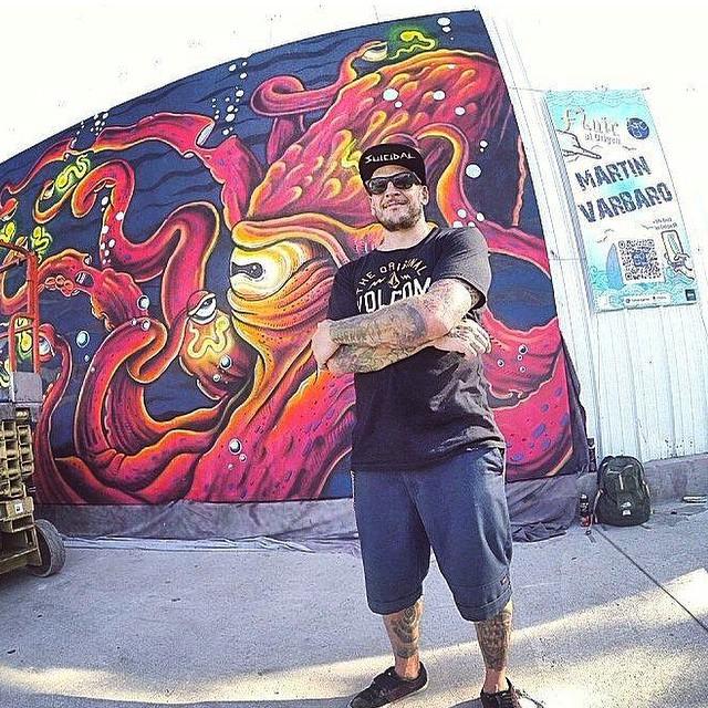 Les dejamos algo del tremendo trabajo de nuestro Featured Artist Martin Varbaro @mvarbaro en el evento Fluir al Origen realizado el fin de semana pasado en Tecnopolis. Mural de 4m x 6m como solo el sabe hacerlo! #featuredArtist #MartinVarbaro #Art...
