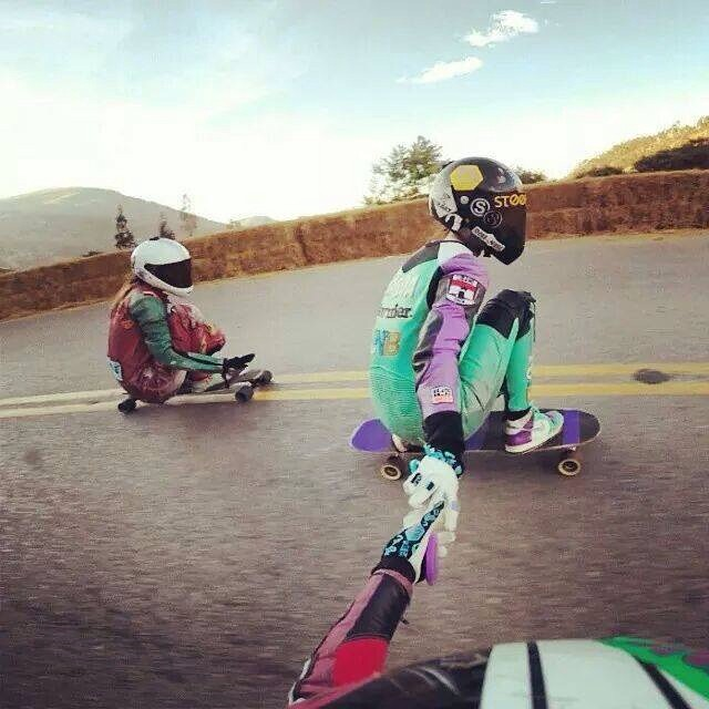 @chelagiraldo @magdub & @valeriasedano 3 ripping #longboardgirlscrew ambassadors from Argentina, Peru and Colombia. Sharing that fun rush in Peru.  #girlswhoshred
