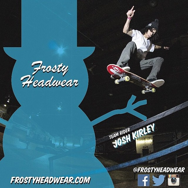 www.frostyheadwear.com #FrostyHeadwear #Skateboarding