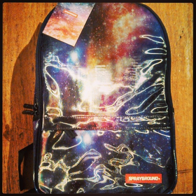 Sprayground galaxy backpacks. One on the great raffle prizes for Tomboi show nyc