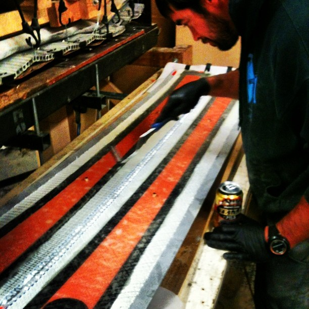 #madeindenver making #skis with #oskerblues