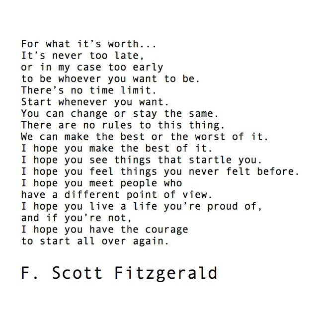 Letters from Fitzgerald #norules #livealifeyoureproudof #allswell