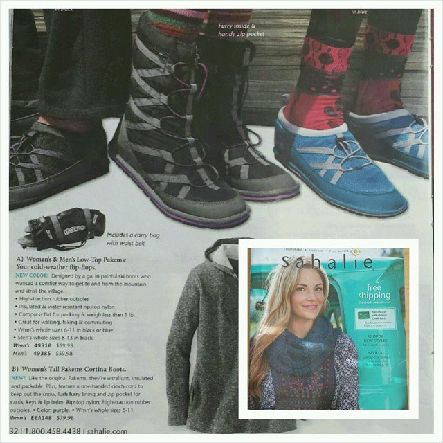 #pakems is proud to be featured in the current #sahalie catelog #style #fashion #colorado #snowboarding #apparel #skiing #sports