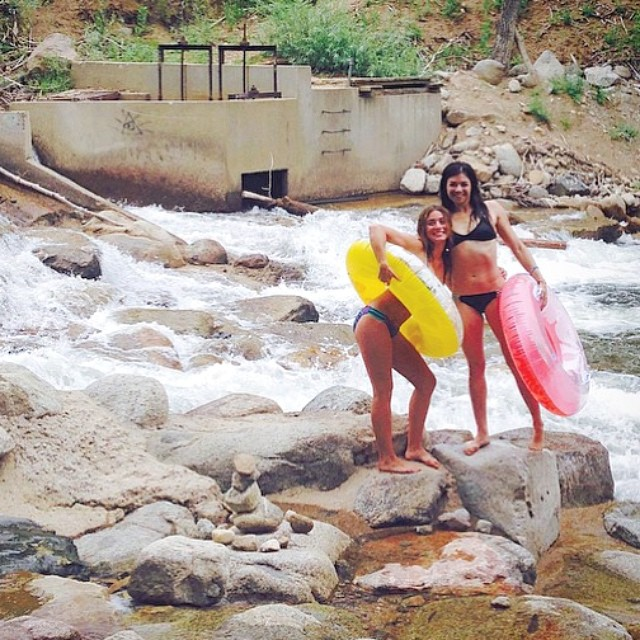 @laurasuslavich #doing some #white #water #rapids #testing with her #boho #short and #surf -- #itsnevertoocoldforabikini #bikiniadventure #eco #earth #wilderness #explore