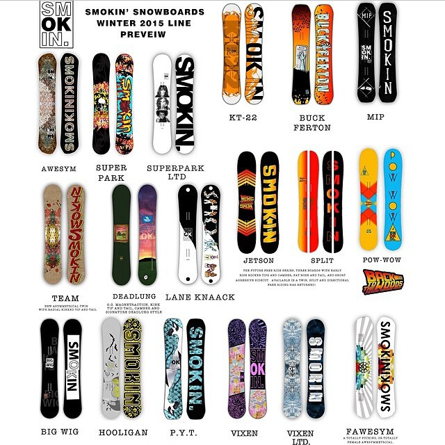 Here's a look at our line this season. All boards are hand made by us at our factory. We only make boards for us and @gbpgremlinz  #3yearwarranty #handmadelaketahoe #forridersbyriders #OK we make we also make @bluebirdwaxandsnowboards for @chadotterstrom