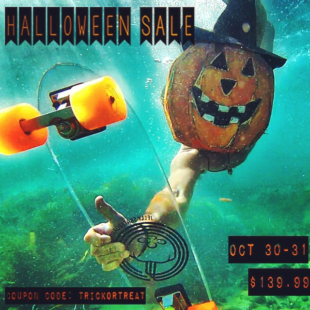 "Halloween SALE going on now!! Use discount code ""trickortreat"" for 20% off your entire order!"