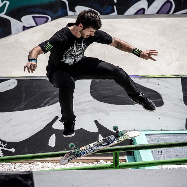 "Three-time X Games gold medalist @ChrisCobraCole is self-releasing 666 signed ""Blackout"" boards as a trick-or-treat surprise.  Click the link on our profile page to check it. ("