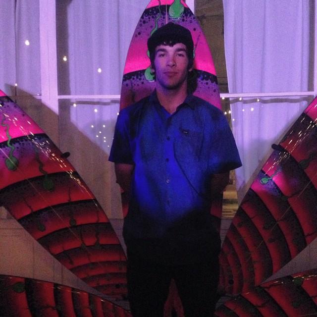 Chinito @sandromoral en la presentacion de #Volcomfootwear