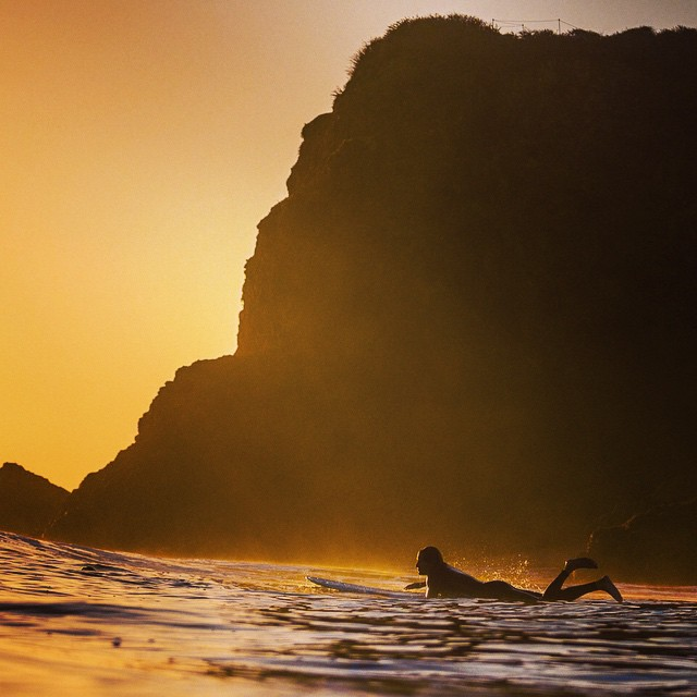 Fall is upon us ... And luckily the water is still warm!  #surfisswell #bigsurfari #goldenhour
