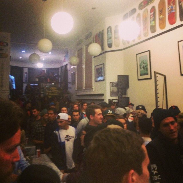 """The """"We Out Here"""" video premiere @ftcsf was rad!  #weouthere #ftcsf #skateboarding #sanfrancisco"""