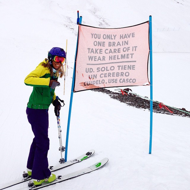 Wise words that never lose their meaning. #TBT to Ambassador @tahomajillian #skiing in #Chile this summer. #winteriscoming #sisterhoodofshred