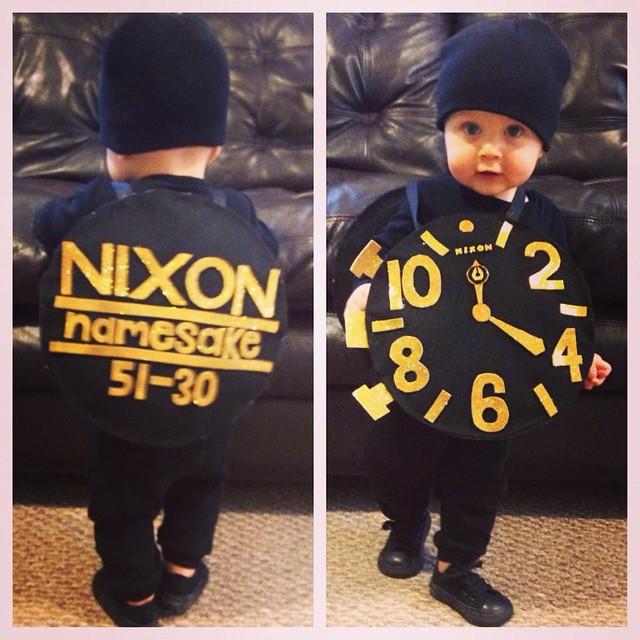 It's official, this baby just won Halloween.  Tagged #nixon by Whitney on Facebook, thanks for flying the Nixon flag!