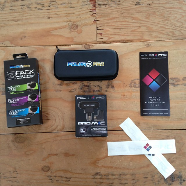 We just received a package from @polarpro and are stoked to use all the lenses and filters this winter!! Thanks guys !