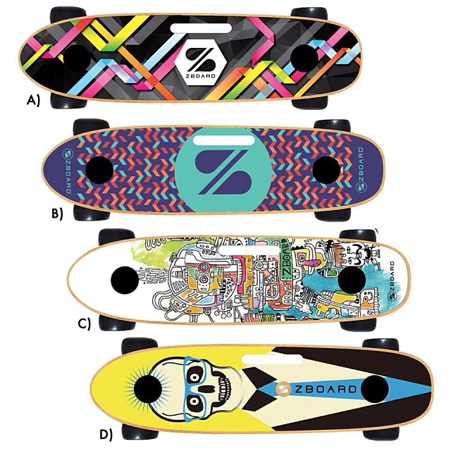 Some recent entries for our grip tape design contest. Enter at zboardshop.com/design  Comment with your favorite.