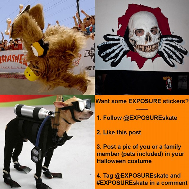 Happy Halloween! --- We'll pick our top three posts this Sunday night and send the winners an EXPOSURE sticker pack! --- Let's see those costumes! --- * We will only mail to U.S. addresses