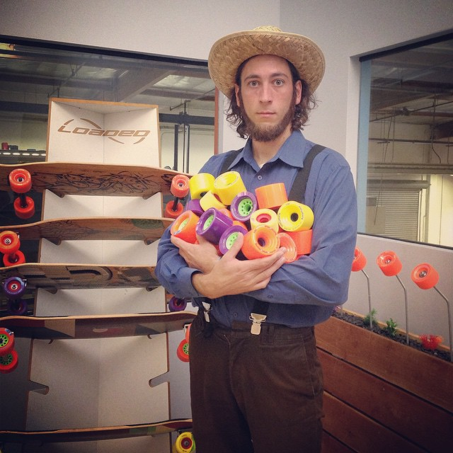Farmer Stokowski wishes you a bountiful and somber harvest this autumn. #happyhalloween #loadedboards #orangatang #orangatangwheels