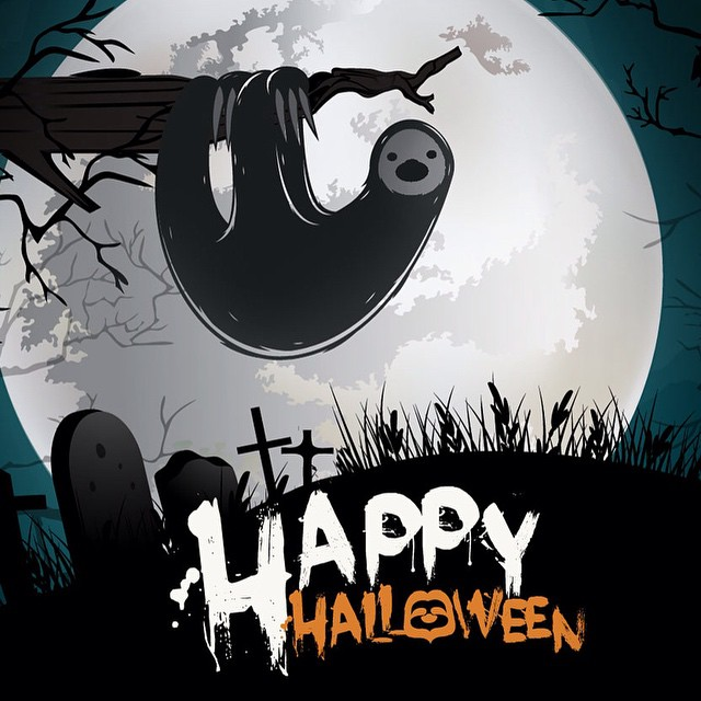 #HappyHalloween to our #Slothcrew! Hope everyone has a hauntingly awesome night.