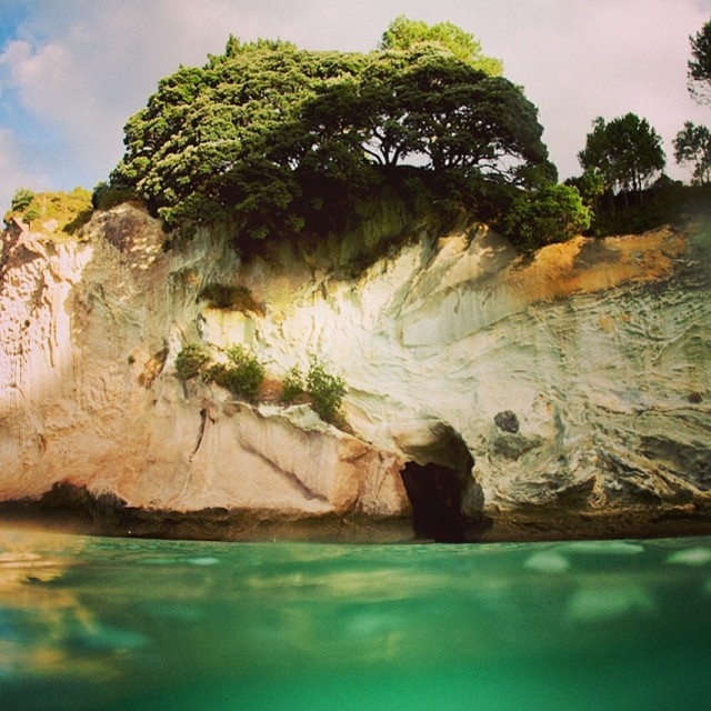 Somewhere magical on the North island of New Zealand.  #newzealand #seakayaking #hahei