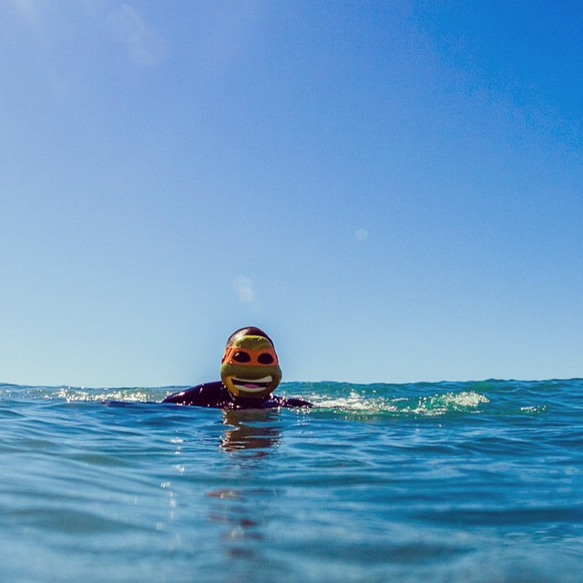 Cowabunga dude! @neens_marketing out for a bodysurf.  #happyhalloween