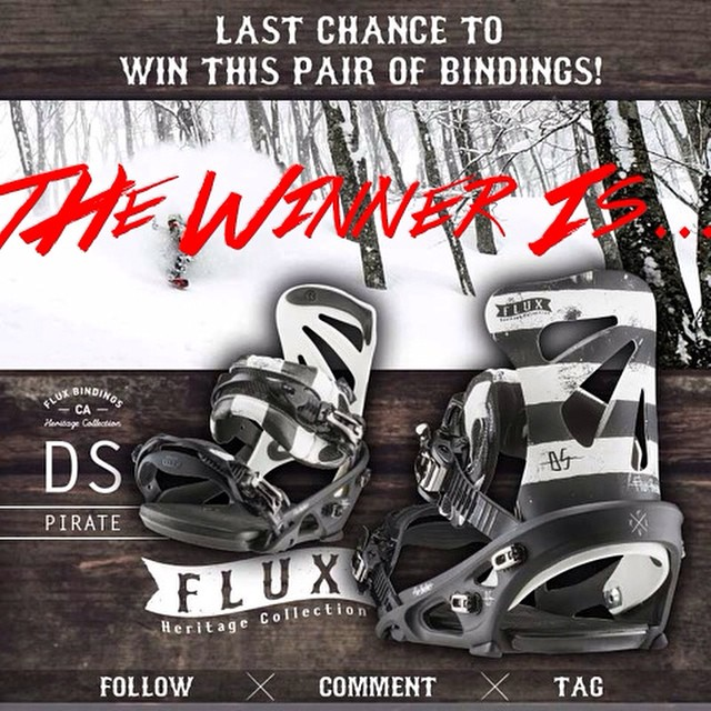 @scottyvine picked Marc Coleman @markymarcc1988 to win the Flux DS Pirate Bindings from the Heritage Collection.