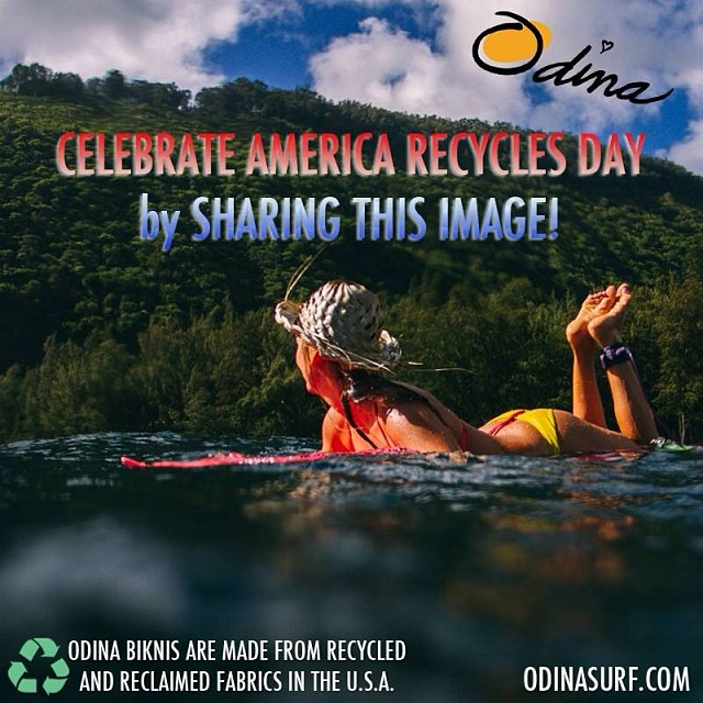 50% OFF ONE DAY ONLY! #Celebrate #America #RecyclesDay! #Share this #image and tag @odinasurf and you will be messaged with a special #discount #code to get 50% off your entire purchase from odinasurf.com. Good for only November 15th 2013 only. Email...
