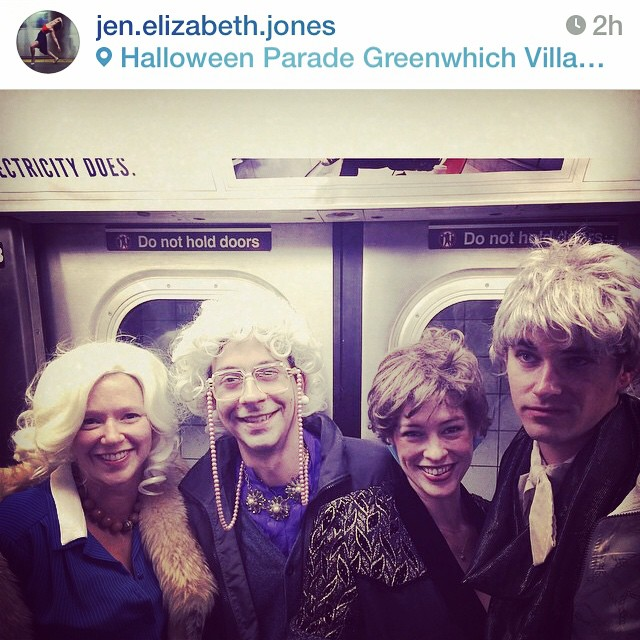 #goldengirls #regram @jen.elizabeth.jones  @longboardlady @begborrowstealfilms  #subway #nyc #halloween #thankyouforbeingafriend