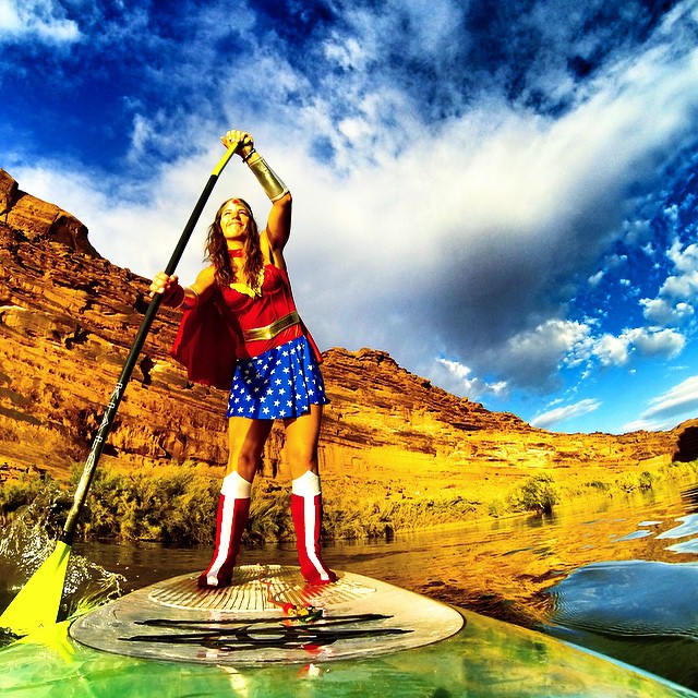 Who's your childhood superhero? I got to embrace mine today... #wonderwoman #hero ⚡️