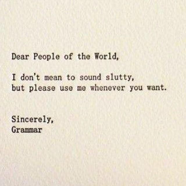 Slutty grammar #allswell