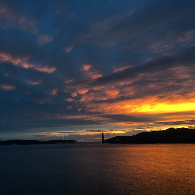 It was raining, I was feeling lazy, I didn't want to go camping - but I pushed through  and I'm sure glad I did #halloween #sunset #sunsetchaser #angelisland #camping #SanFrancisco #GoldenGateBridge