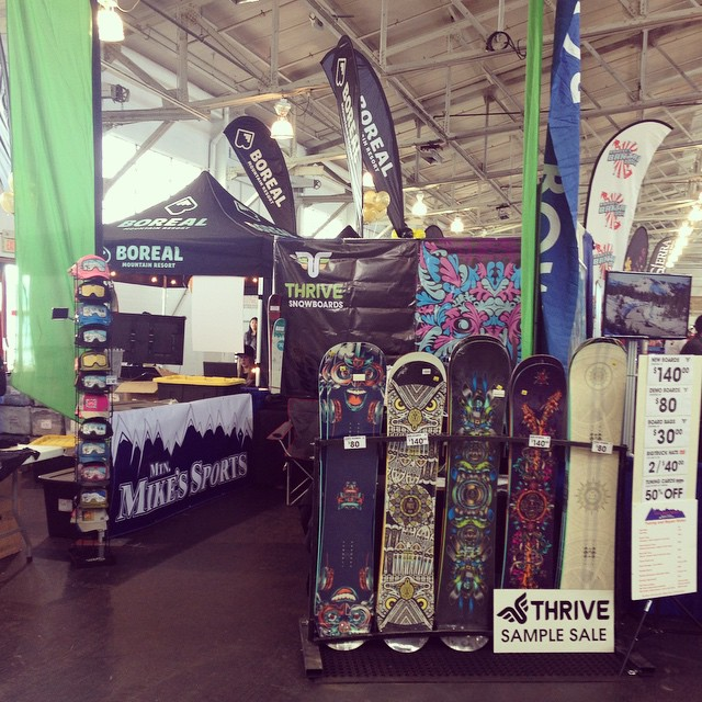 Thriving at #snowbomb #sanfrancisco #snowboard #thrivesnowboards