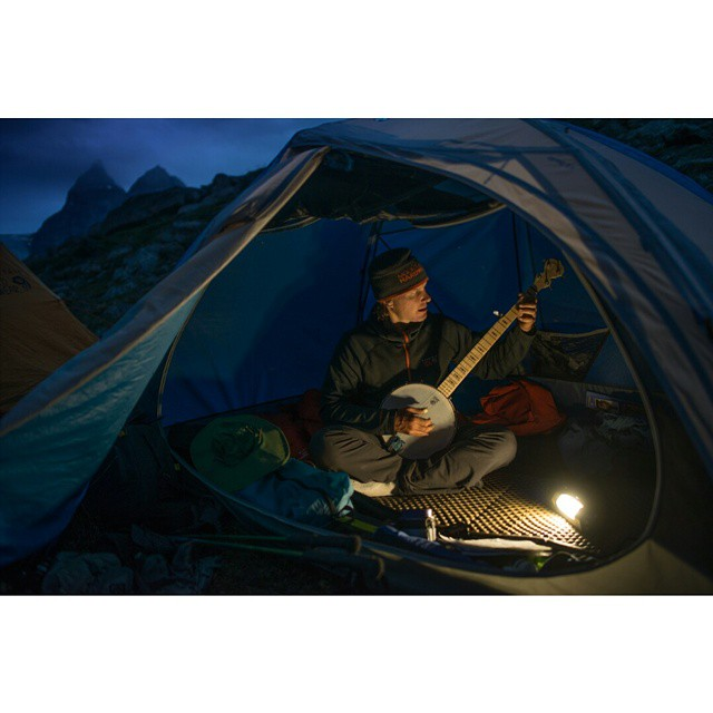 #MikeLibecki enjoying a night in Greenland with the Torch 250.  Photo: @andy_mann