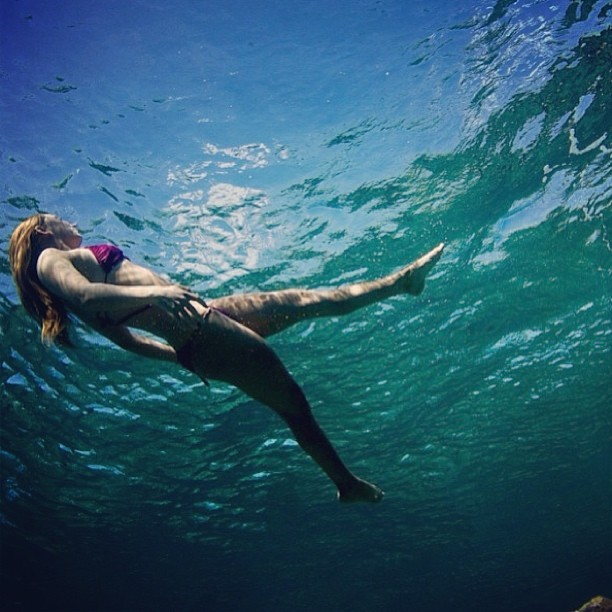 @alisonsadventures #under the #sea being her inner #mermaid #sarahleephoto #fiji #travel #underwater #beauty #explore #adventure #bikini