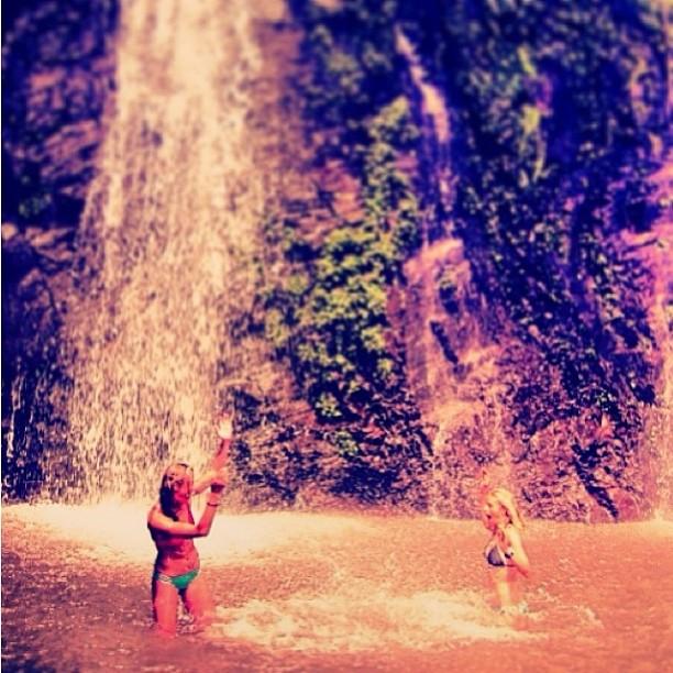 @helina___ #finding #bliss at her #secret #waterfall in #elsavador #travel #explore #enjoy #sundayfunday