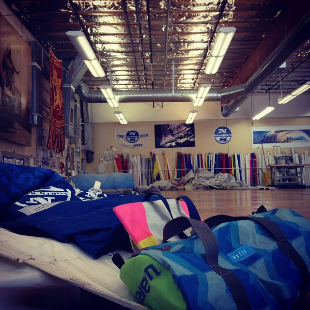 Sunday sail pickup at #north sails , San Francisco.  #NASA
