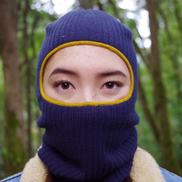 Even though Halloween is over, we still think that using The Knit Clava to dress up like a ninja is a necessity for #fineliving.
