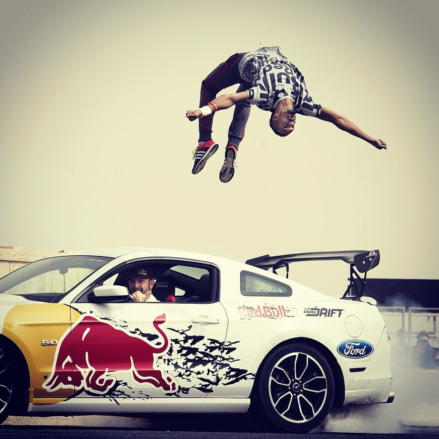Flip. It's @RedBullKuwait's Car Park Drift. #drifting #parkour #freerunning