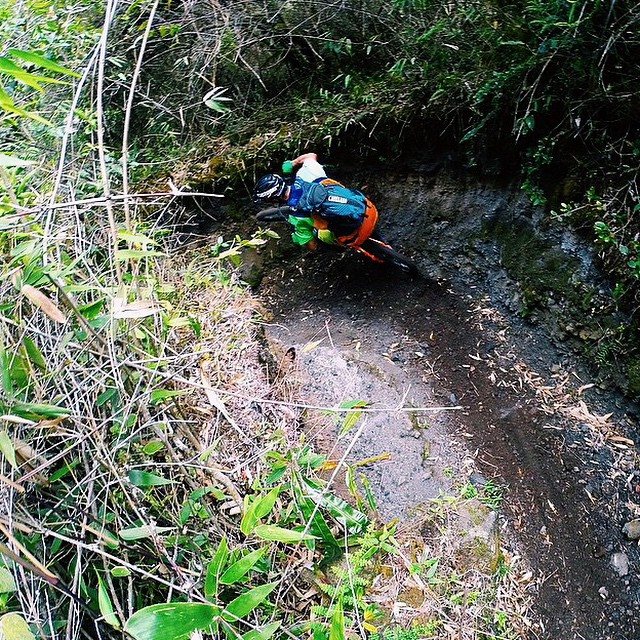 Regram: @PorterMTB | Still thinking about my time in #Ecuador, this is a 2,000 year old trial in the middle of a volcano that has the most ridiculous deep bobsled turns I've ever ridden. So much fun!!! |