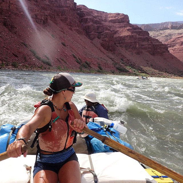 View from the front seat... #grandcanyon #rafting ☀️