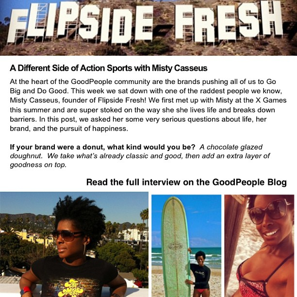 Check out the interview @goodpeoplelife did on Flipside Fresh!! If you are a skater, snowboarder, skier, surfer... You should join their site and follow them on Instagram!
