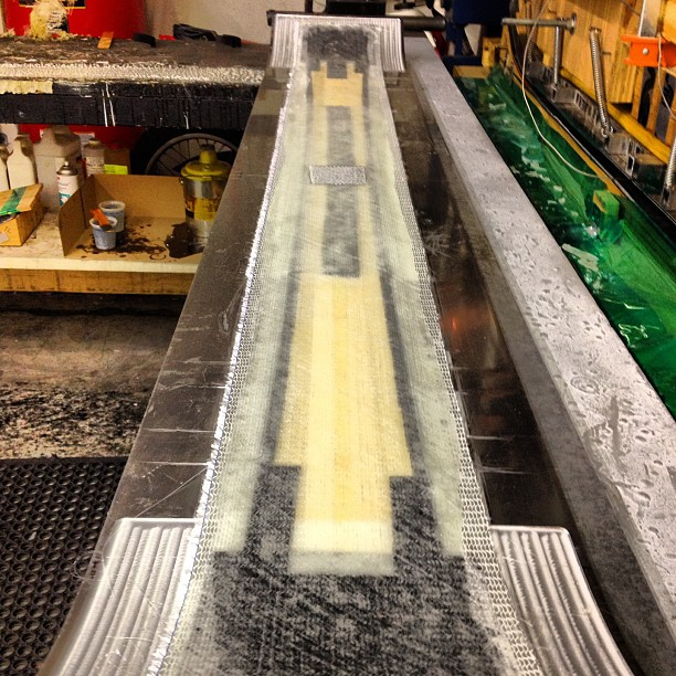 Another ski ready to be pressed. #madeintheUSA #layup #sticky