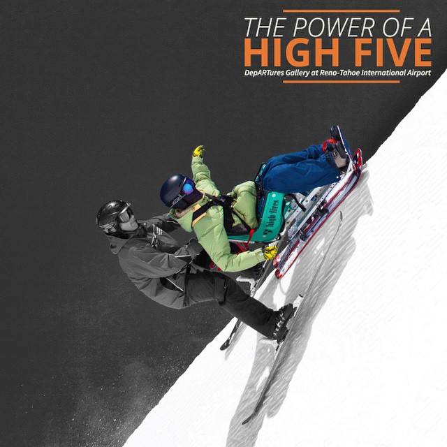 """We are beyond excited to announce """"The Power of a High Five"""" art exhibit in the Reno-Tahoe International Airport Gallery. The installation will showcase 16 of the Foundations Reno-Tahoe Winter Empowerment Fund Athletes. If you would like to attend the..."""