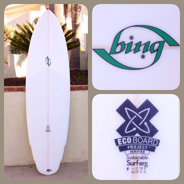 One of the most iconic and original surfboard brands is now charging into the 21st Century by making highly sustainable, high-performance surfboards. Make sure you order your next Bing as an #ecoboard. @bingsurfboards @chrisdelmoro111 @youstayglassy