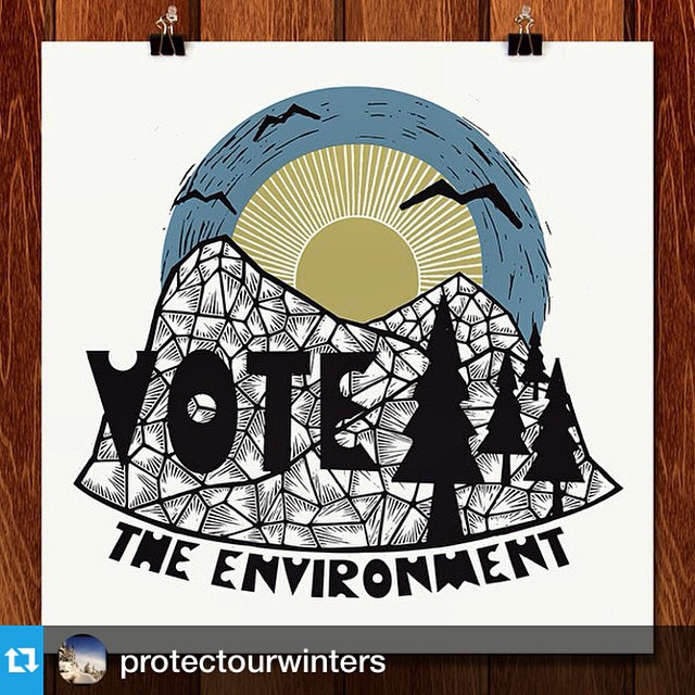 Tomorrow's the big day! Whether you're casting your vote at a local polling center or licking a stamp for your mail ballot, think about the environment. The lakes, rivers, mountains, birds, and bears are all counting on us.  #Repost from...