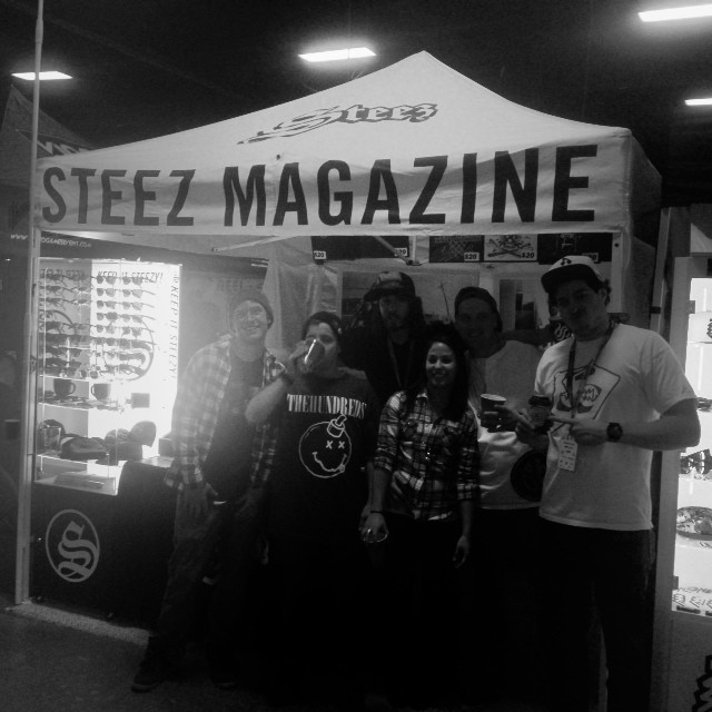 Chillin in the booth today at Boston expo. Come by. #steezmagazine #freestuff