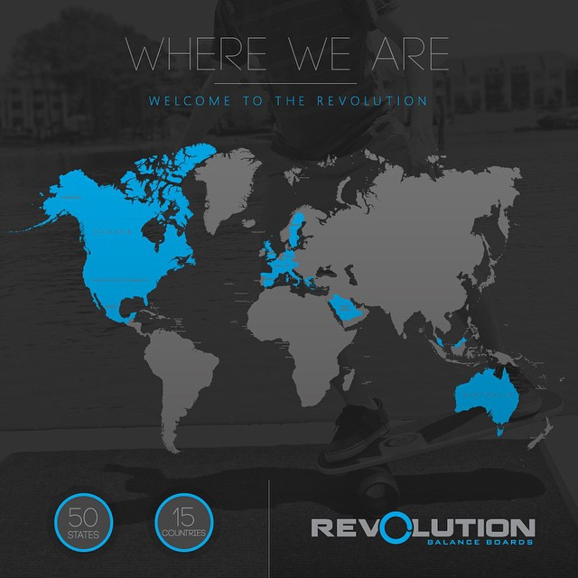 Revolution has has gone global! Thank you guys for the support, our balance boards have been ordered and used in all 50 states, and 15 countries around the world. Thank you! #balanceboard #madeintheusa #thankful