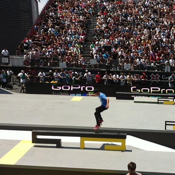 Street Skateboard Finals. Defending Champ Nyjah Huston. #xgames #espn #fsf #flipsidefresh #sk8fsf