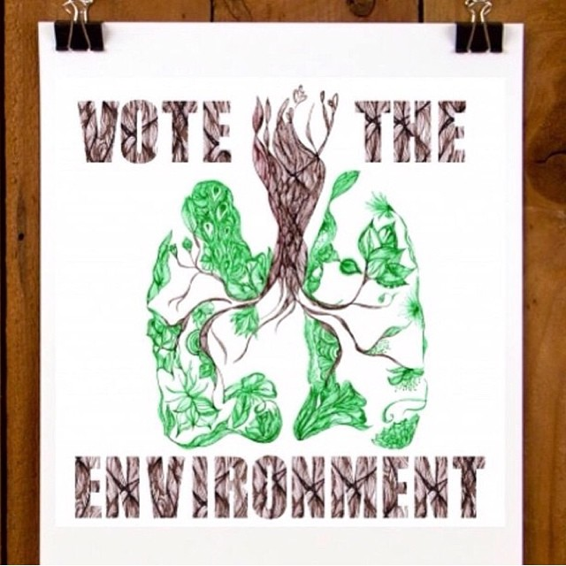 """We are what we breath....to vote for the environment is to vote for ourselves"" from @gabilaruccia #VoteTheEnvironment @patagonia"